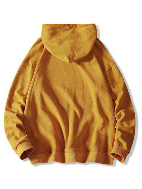 Carta Estampado sólido con cordón con capucha - Amarillo Brillante M Mobile