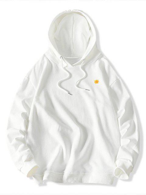 El tiempo la impresión del modelo de lazo con capucha - Blanco M Mobile