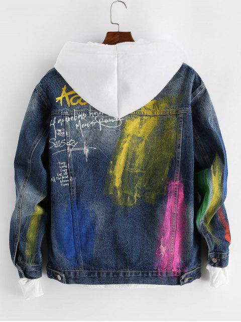 Veste Teintée Peinturée Imprimée en Jean - Multi-A M Mobile