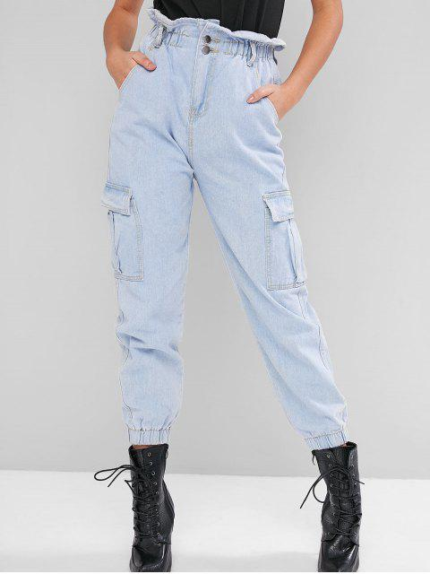 Bolsillos con solapa del basculador paperbag Jeans - Azul de Jeans  S Mobile