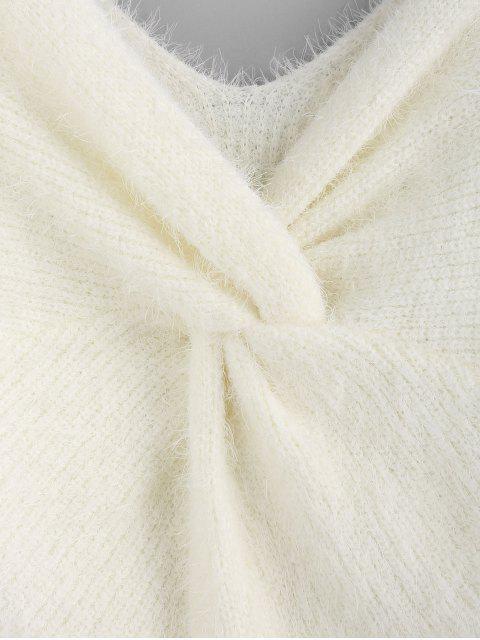 ZAFUL Conjunto de Jersey Hundido Trenzado - Blanco L Mobile