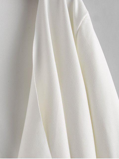 垂褶不對稱仿麂皮打開夾克 - 白色 XL Mobile