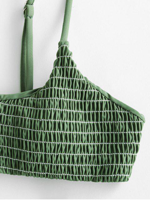 ZAFUL Biquíni de Babados com Franzido - Cor de Verde da Avelã L Mobile