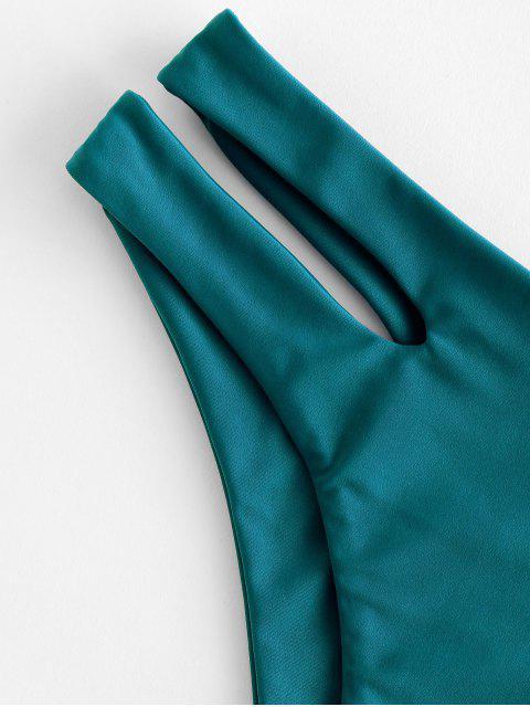 fancy ZAFUL Cutout Bikini Bottom - PEACOCK BLUE M Mobile