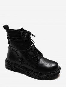 سهل الرباط التفاف PU أحذية جلدية للشحن - أسود الاتحاد الأوروبي 39