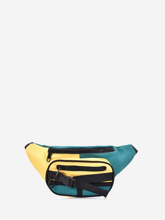 Шик Цветной сплесень Холст Сумка на талии - Солнце-желтый