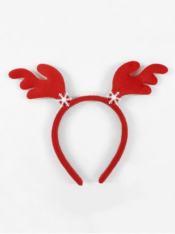 Cuerno de Navidad del copo de nieve Hairband - Rojo