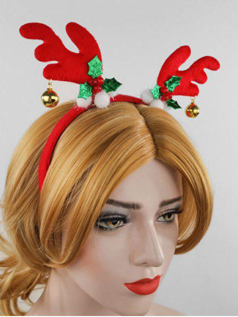 unique Christmas Elk Antler Bell Hairband - RED  Mobile