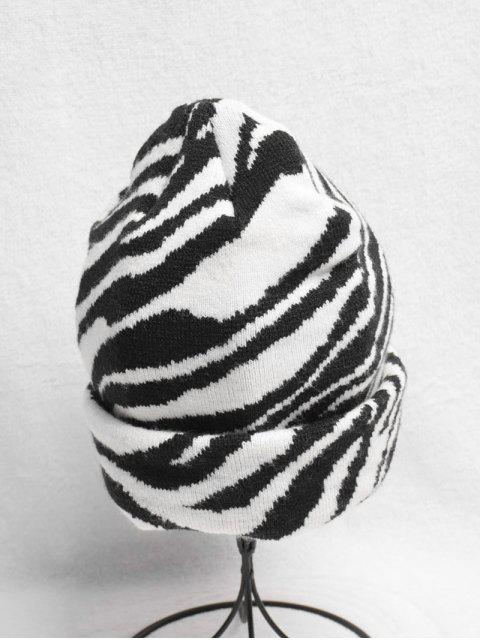 new Casual Striped Pattern Knitted Beanie - WHITE  Mobile