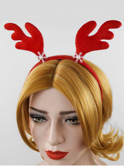 trendy Christmas Antler Snowflake Hairband - RED  Mobile