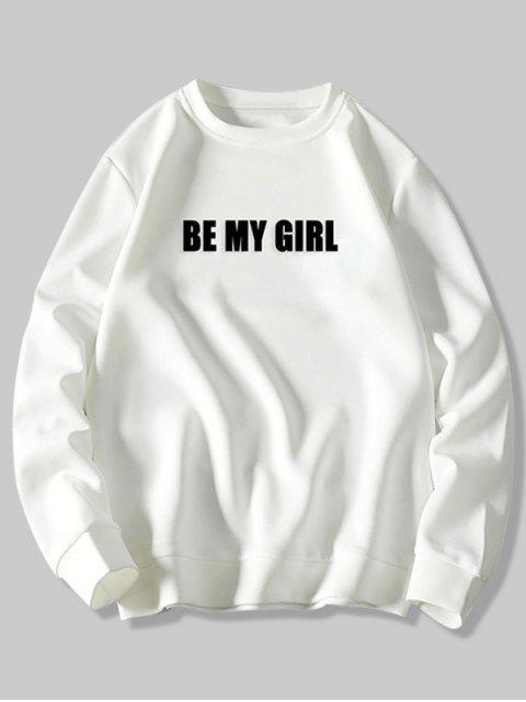 Se mi Carta impresión de la muchacha de punto elástico con capucha Hem - Blanco XL Mobile