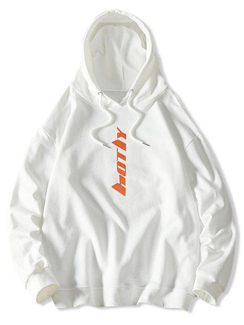 Carta con capucha con cordón gráfico - Blanco L Mobile