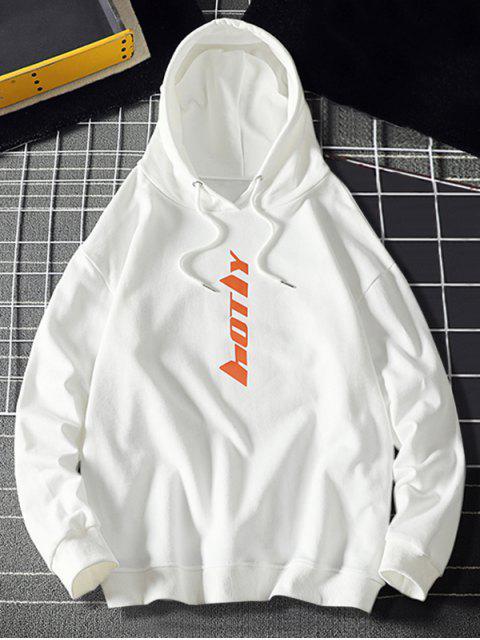Carta con capucha con cordón gráfico - Blanco XL Mobile