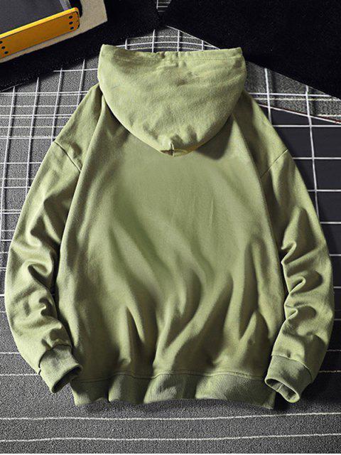 Carta con capucha con cordón gráfico - Verde de Mar  M Mobile
