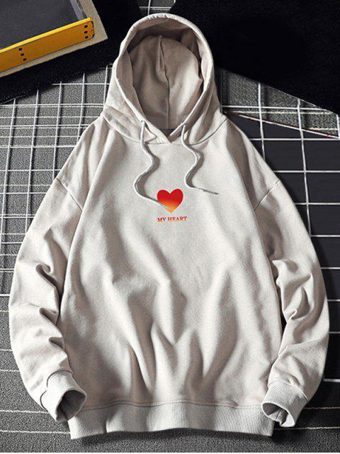 Mi corazón Estampado con capucha con cordón - Platino XL Mobile