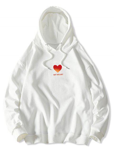 Mi corazón Estampado con capucha con cordón - Blanco M Mobile