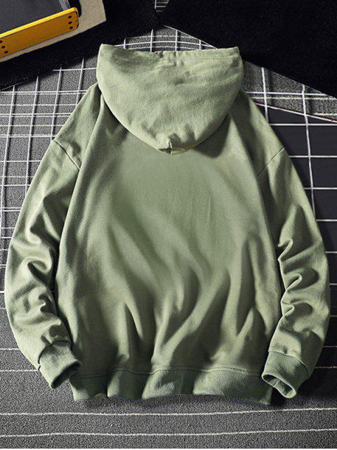 Mi corazón Estampado con capucha con cordón - Verde de Mar  XL Mobile
