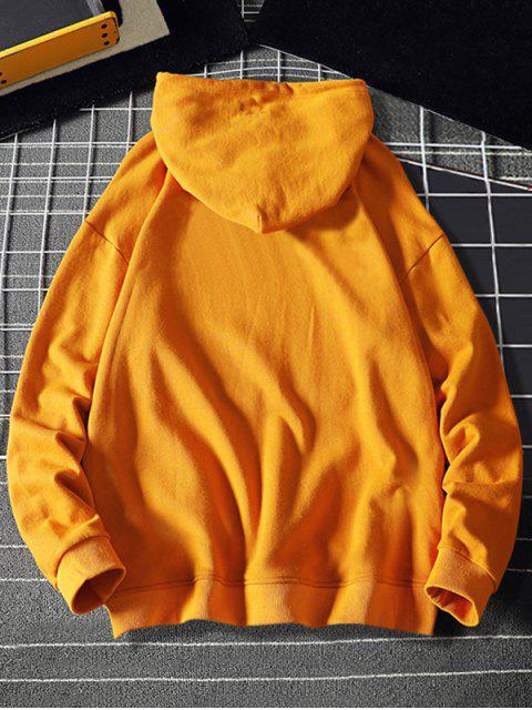 Mi corazón Estampado con capucha con cordón - Amarillo Brillante XS Mobile