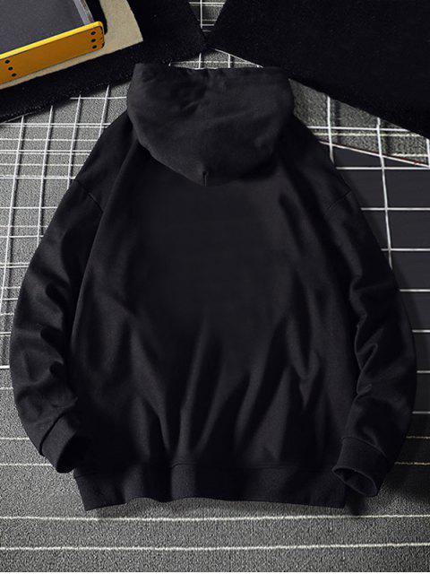 Mi corazón Estampado con capucha con cordón - Negro XS Mobile