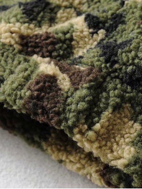 郵編前縫口袋迷彩夾克泰迪 - 軍綠色 S Mobile