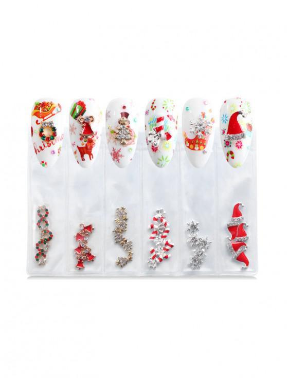 latest Santa Claus Christmas Nail Decoration - WHITE