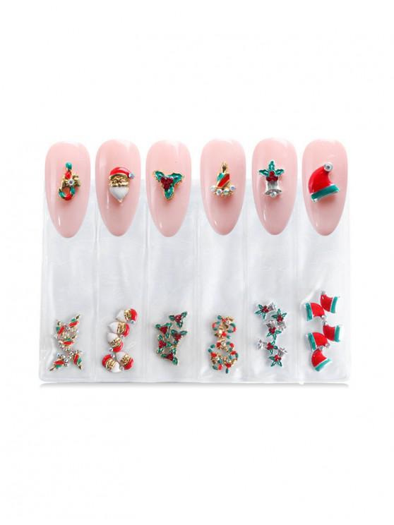 fashion Santa Claus Christmas Nail Decoration - PINK