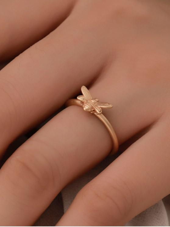 fancy Brief Carved Bee Open Ring - GOLD