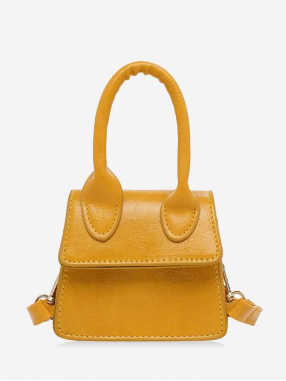 fashion Mini Solid Shoulder Bag - RUBBER DUCKY YELLOW