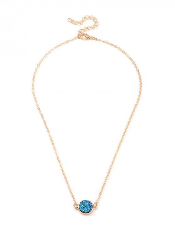 hot Geometric Cross Heart Clavicle Necklace - GOLD CIRCLE