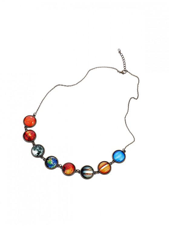 fancy Universe Eight Planets Luminous Necklace - BRONZE