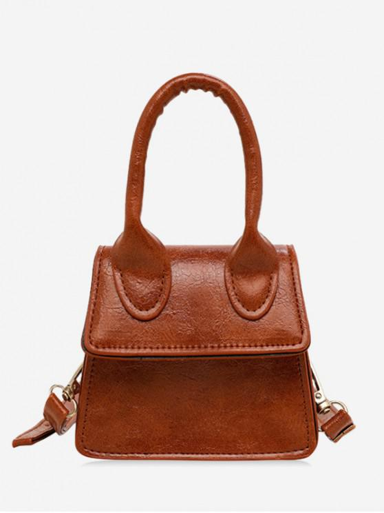 outfit Mini Solid Shoulder Bag - BROWN