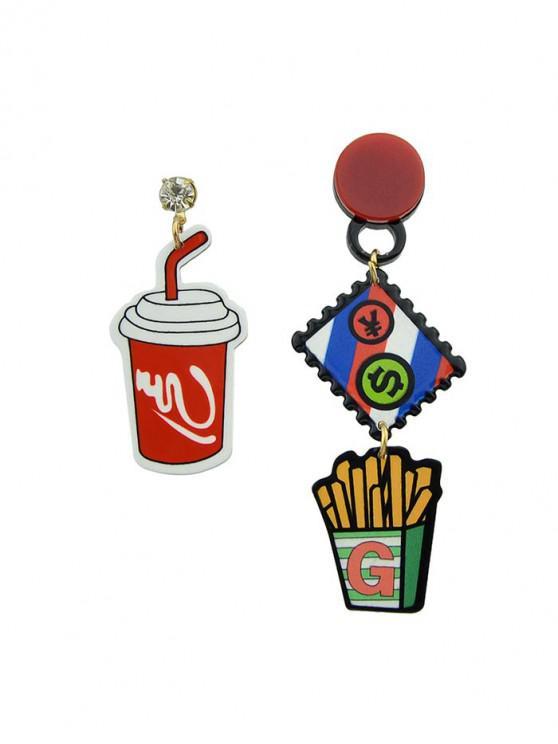 hot Cartoon Chips Pattern Dangle Earrings - ACU CAMOUFLAGE