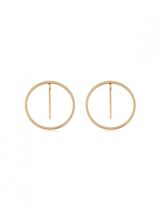 unique Metallic Simple Round Earrings - GOLD