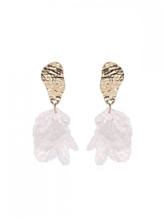 buy Irregular Petals 925 Silver Stud Earrings - MILK WHITE