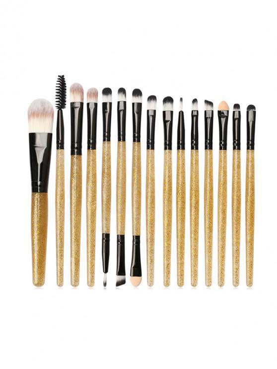 fashion 15Pcs Glitter Powder Makeup Brushes - MULTI-B