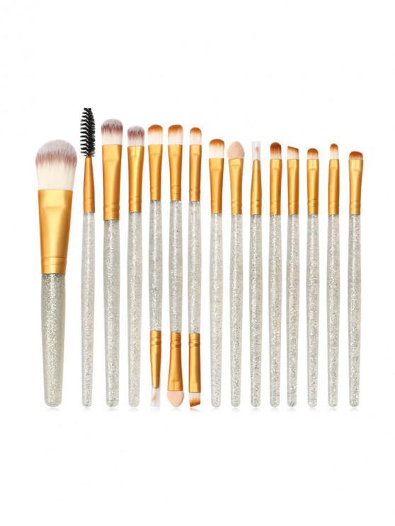 fancy 15Pcs Glitter Powder Makeup Brushes - MULTI-C