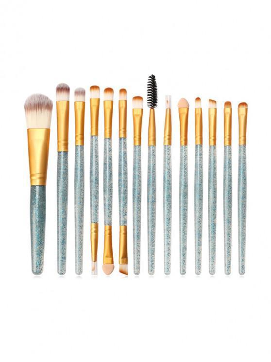 shop 15Pcs Glitter Powder Makeup Brushes - MULTI-E