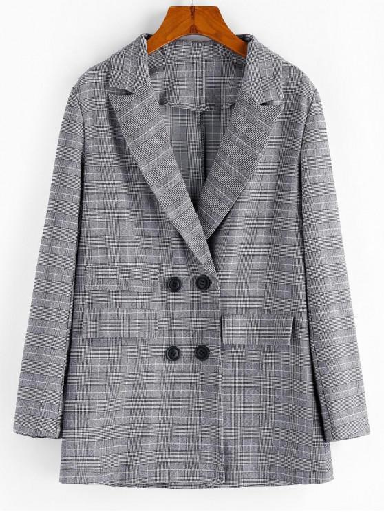 outfits ZAFUL Houndstooth Lapel Longline Blazer - MULTI-A XL