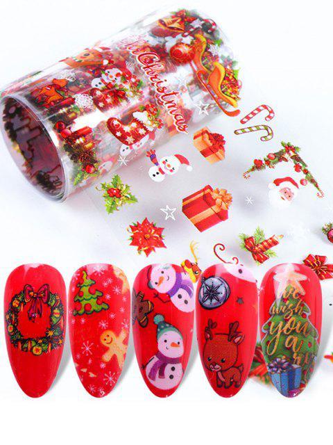 lady 10Pcs Christmas Santa Claus Nail Stickers - MULTI-A  Mobile