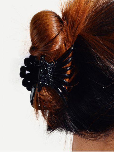 online 2Pcs Plastic Hair Claws Set - BLACK  Mobile