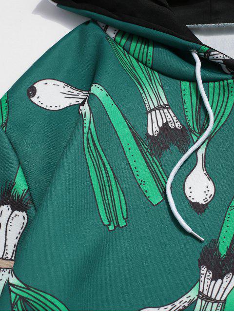El ajo Gráfico frontal bolsillo Salón con capucha - Multicolor XL Mobile