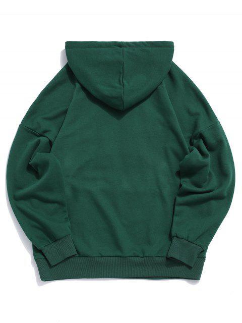 Hombro con capucha York Carta bordado cordón gota - Verde Oscuro L Mobile