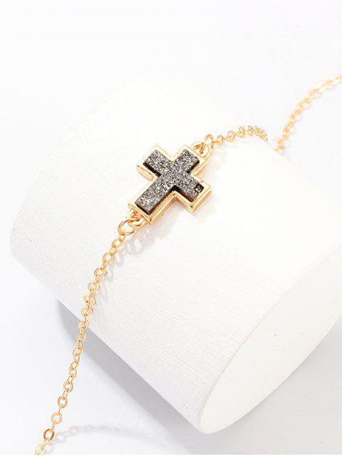 Крест Геометрическое Ожерелье на ключице Сердце - Золотой Крест Mobile