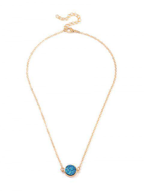 Крест Геометрическое Ожерелье на ключице Сердце - Золотой круг Mobile