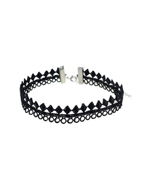 Кружево Ажурное Геометрическое Ожерелье Чокер - Чёрный  Mobile