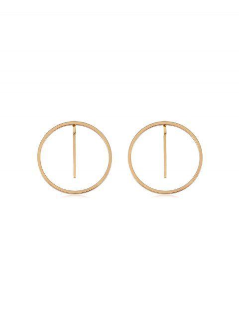 Металлические Простые Круглые Серьги - Золотой  Mobile