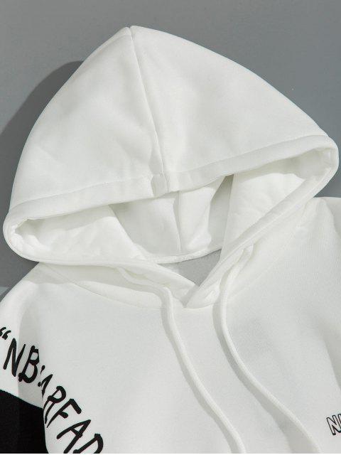 Modelo gráfico de Colorblock con capucha informal - Blanco 2XL Mobile