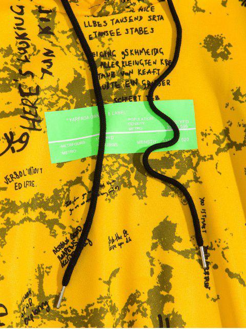 Carta Gráfica de lazo con capucha - Amarillo 3XL Mobile