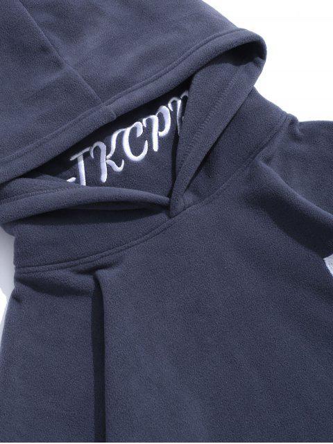 Letra bordada con capucha informal - Gris 2XL Mobile