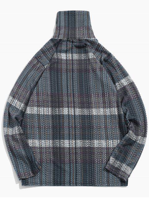 Casual manga larga de cuello alto camiseta - Gris M Mobile